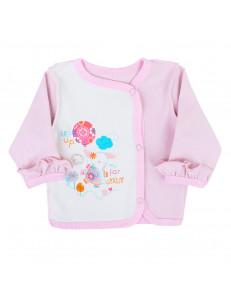 Кофточка розового цвета для малышей со слоненком